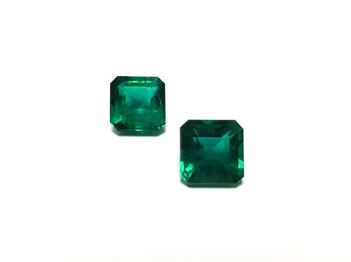 Emerald Emeraldcut Pair 12.02 cts