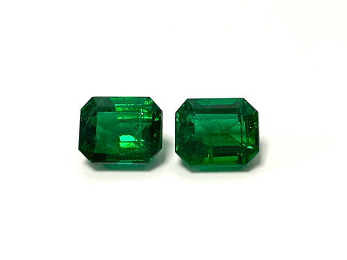 Emerald Emeraldcut Pair 7.99 cts