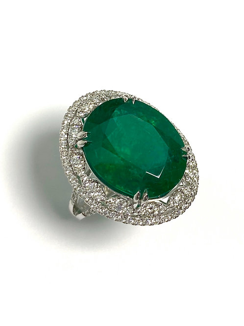 Emerald Oval Ring 15.40 cts