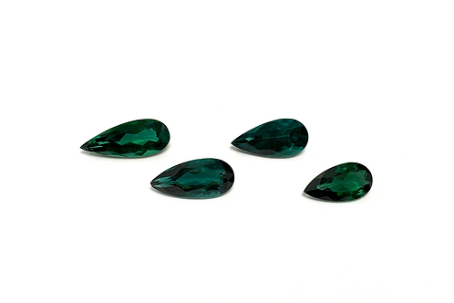 Tourmaline Pear 4 Pcs 10.87 cts