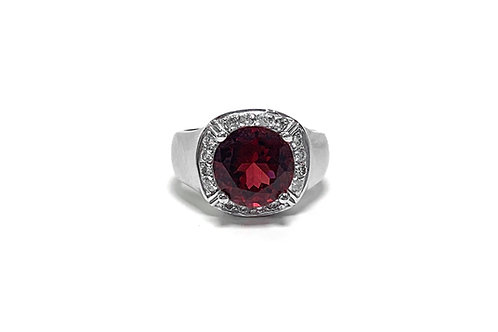 Rubellite Round Ring 5.50 cts