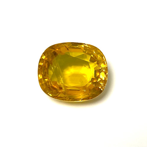 Yellow Sapphire Cushion 8.32 Cts