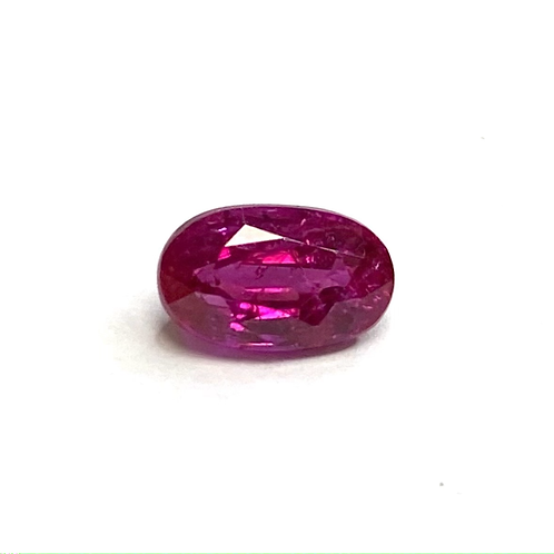 No Heat Burma Ruby Oval 1.11 Cts