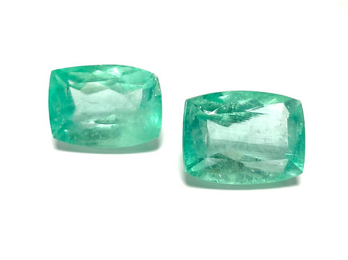 Emerald Emeraldcut 72.99 CT - 2 pcs