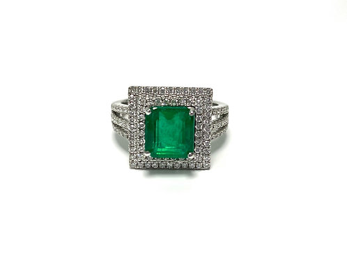 Emerald Square Ring 1.96 cts