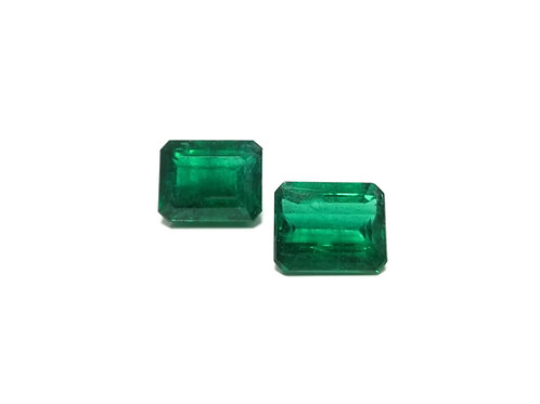 Emerald Emeraldcut Pair 13.41 cts