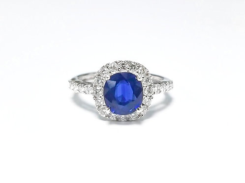 Sapphire Oval Ring 1.52 cts