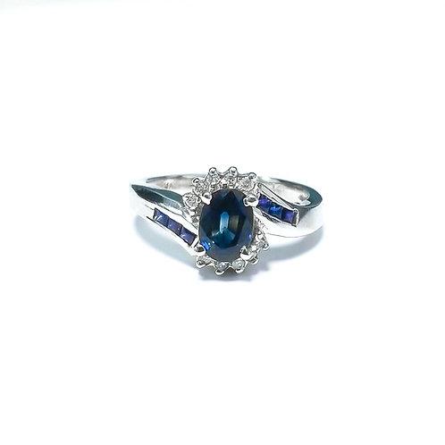 Ceylon Sapphire Oval Ring 1.45