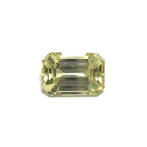 Yellow Sapphire Emeraldcut 6.68 cts - No Heat