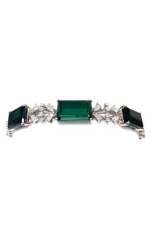 Tourmaline Platinum Bracelet 49 cts