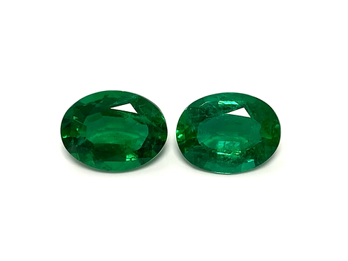 Emerald Oval Pair 5.27 Cts