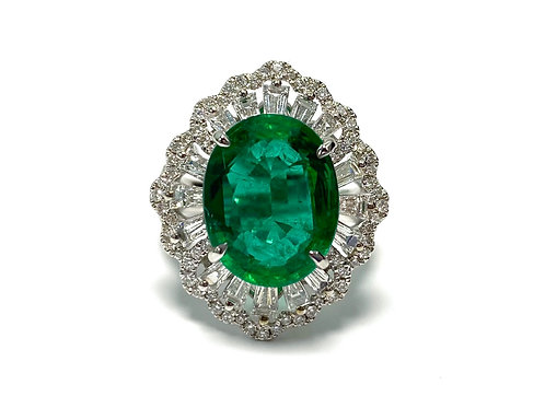 Emerald Oval Ring 5.00 cts