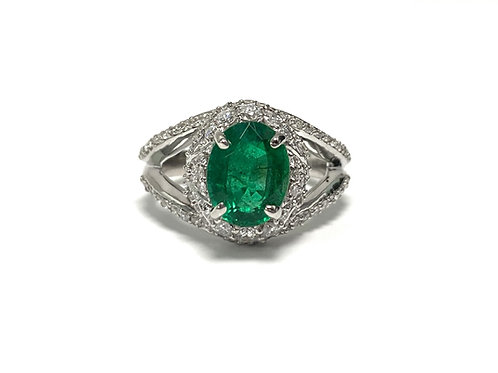 Emerald Oval Ring 2.03 cts