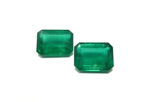 Emerald Emeraldcut Pair 18.15 cts