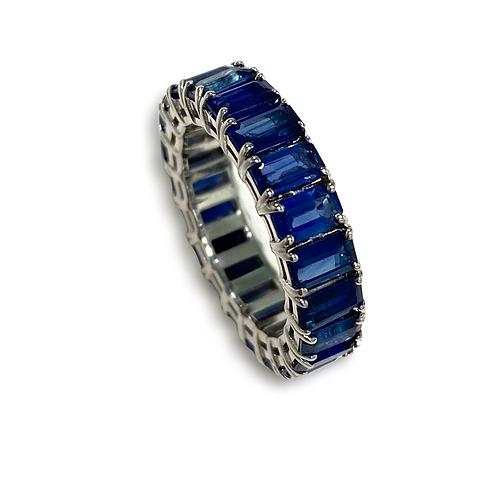 Ceylon Sapphire Emeraldcut Ring 5.28 cts