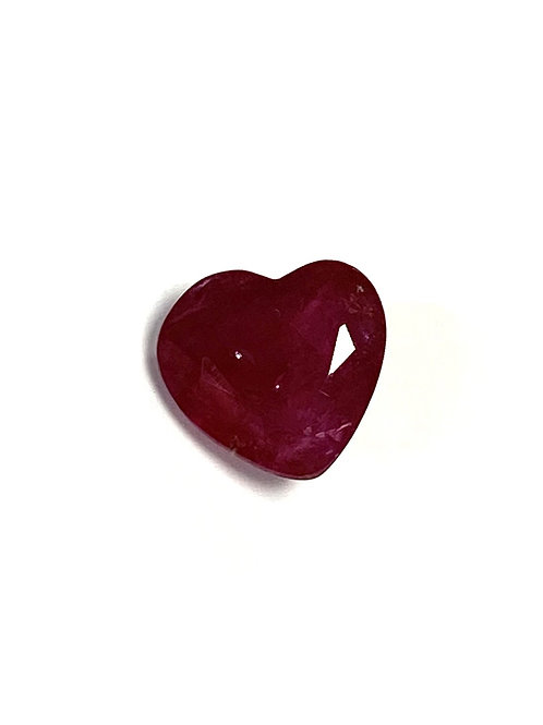 Ruby Heart 1.28 Cts