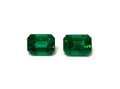 Emerald Emeraldcut Pair 7.30 cts