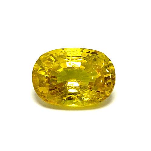 Yellow Sapphire Cushion 5.26 Cts