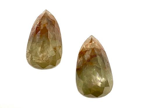 Fancy Diamond Pear Pair 7.23 cts