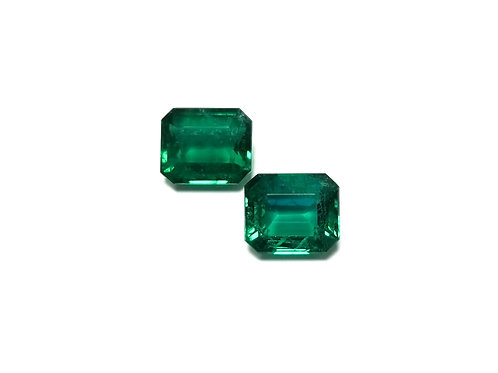 Emerald Emeraldcut Pair 9.77 cts