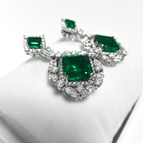Emerald Earrings 24.56 cts