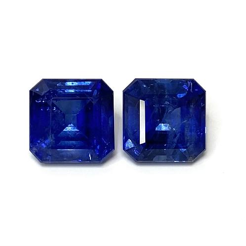 Ceylon Sapphire Emeraldcut Pair 9.75 Cts