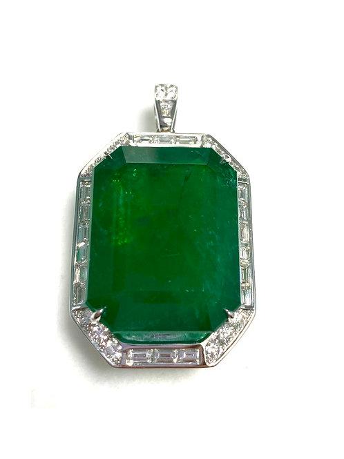 Emerald Emeraldcut Pendant 53.28 cts