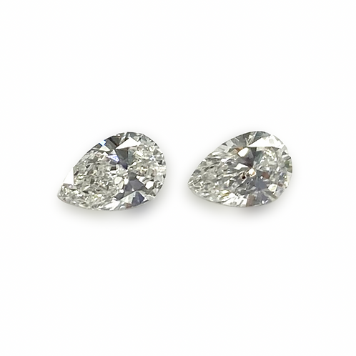 Diamond Pear Pair Approx 0.40 cts
