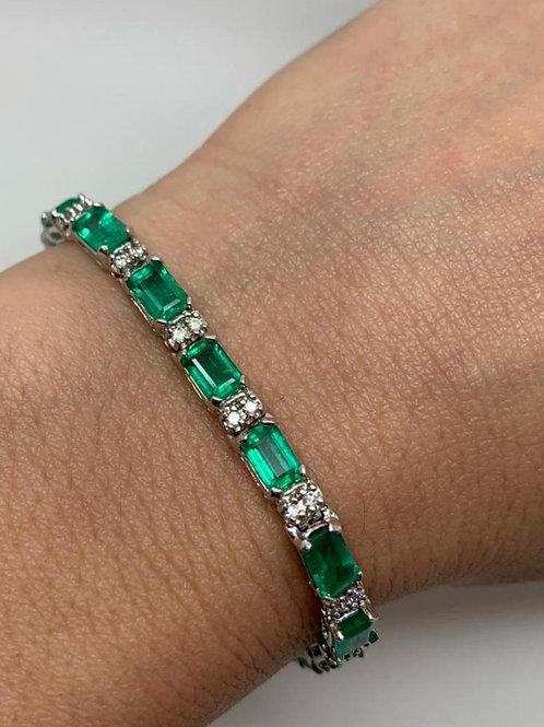 Emerald Emeraldcut Bracelet