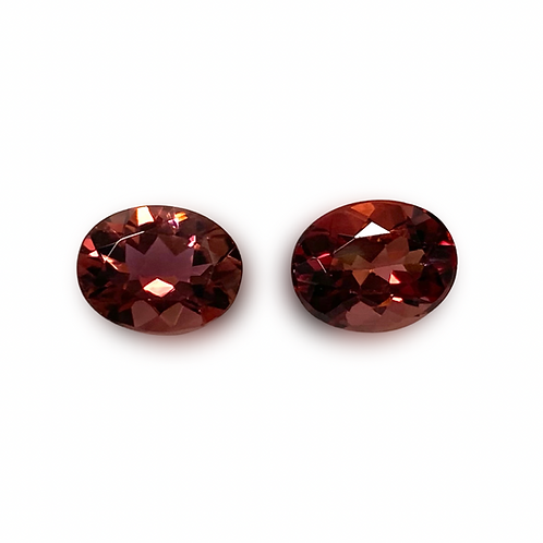 Pink Tourmaline Oval Pair 3.57 cts