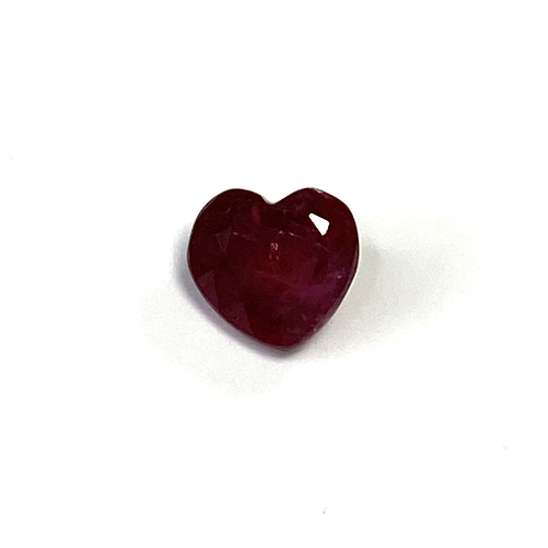Ruby Heart 0.77 Cts