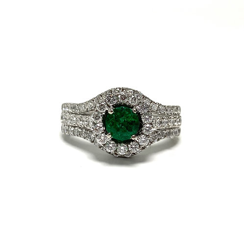 Emerald Round Ring 0.45 cts