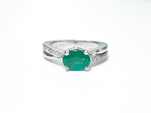 Emerald Oval Ring 1.10 cts