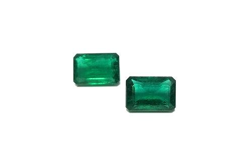 Emerald Emeraldcut Pair 17.18 cts