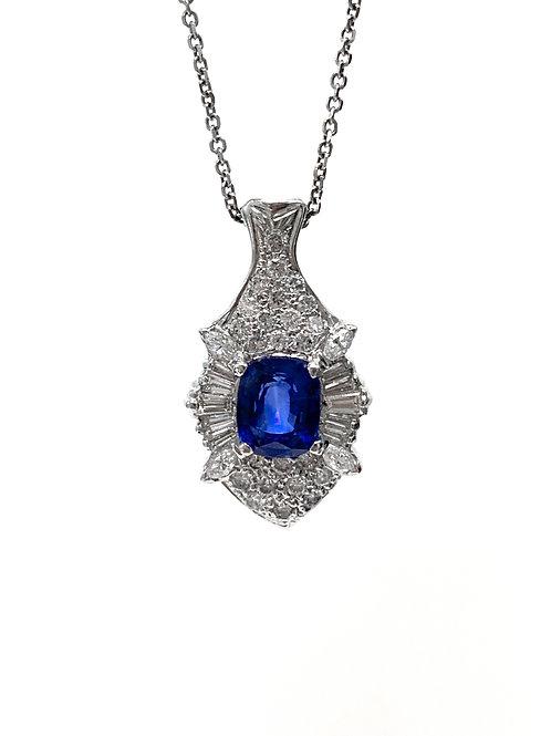 Sapphire and Diamond Pendant 4.91 cts