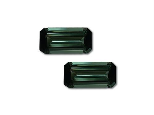 Tourmaline Emeraldcut Pair 9.81 cts
