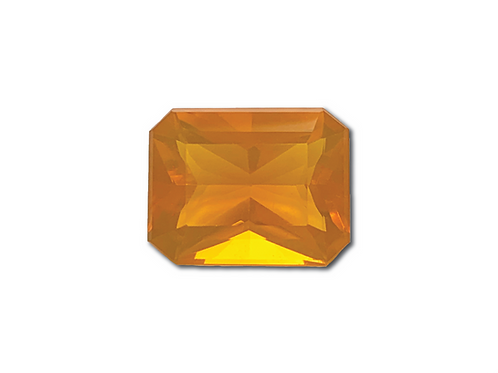 Fire Opal Emeraldcut 4.08 cts