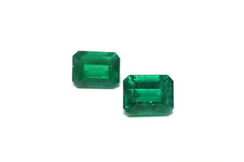 Emerald Emeraldcut Pair 8.15 cts