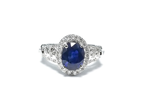 Sapphire Oval Ring 2.35 cts