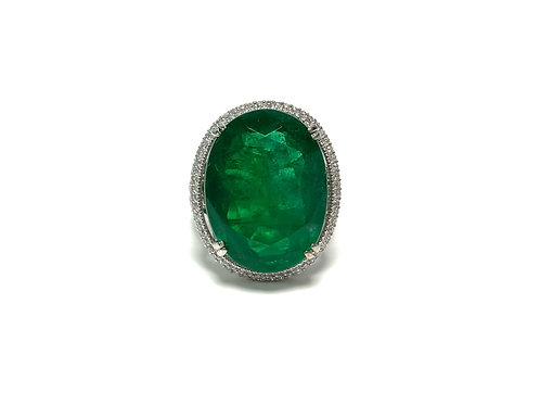 Emerald Oval Ring 17.04 cts