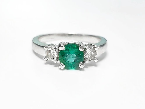 Emerald Round Ring 0.83 cts