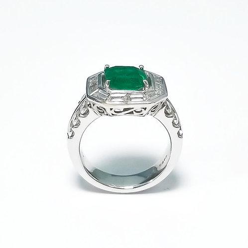 Emerald Emeraldcut Ring 2.80 cts