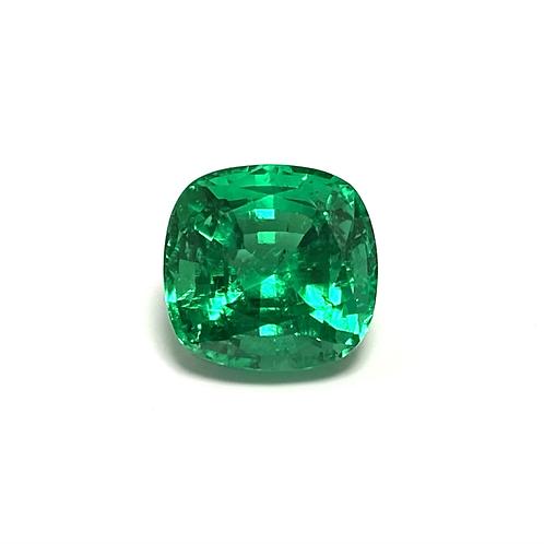 Emerald Cushion 4.12 cts