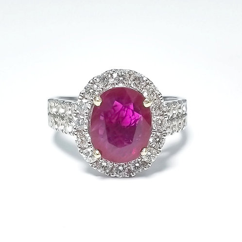 Ruby Oval Ring 1.79 cts