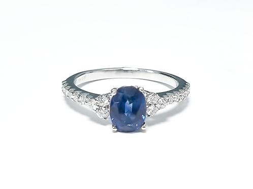 Ceylon Sapphire Oval Ring 1.91 cts