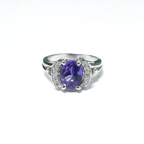 Tanzanite Oval Ring 2.22 cts