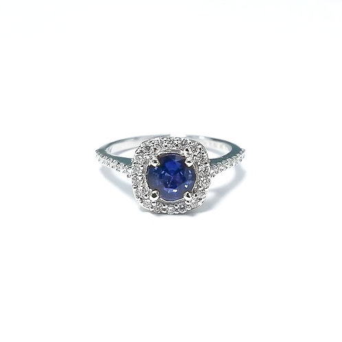 Sapphire Round Ring .50 cts