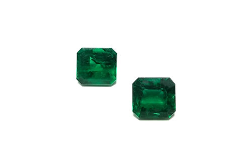 Emerald Emeraldcut Pair 6.41 cts