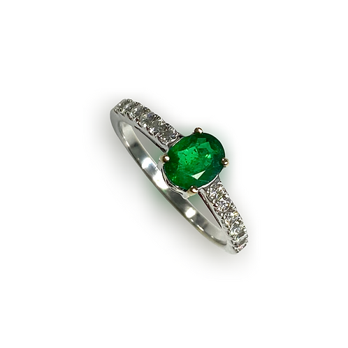 Emerald Oval Ring 0.55 cts