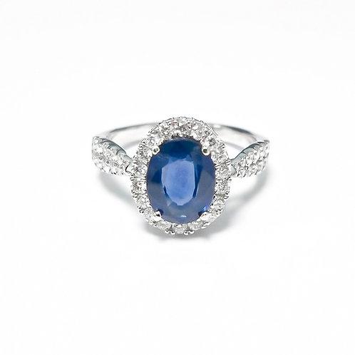 Ceylon Sapphire Oval Ring 2.08 cts